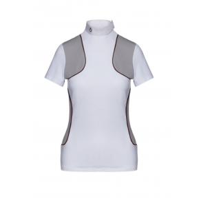 Cavalleria Toscana Jersey Piped Comp. Polo Hvid