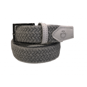 Cavalleria Toscana Wool and Leather Belt Grå/Hvid