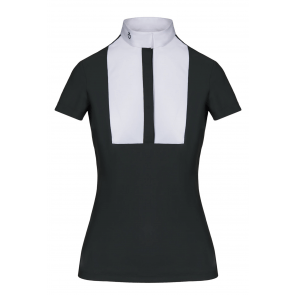 Cavalleria Toscana Embossed Stripe Shirt w. Bib Grøn