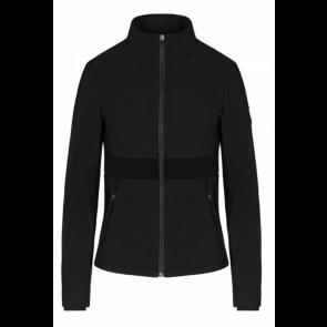 Cavalleria Toscana Sweatshirt w. Jaquard Knit Insert Sort