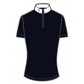 Cavalleria Toscana SS Competition Polo w. Knit Back JR Navy