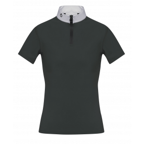 Cavalleria Toscana SS Competition Polo w. Knit Back JR Grøn