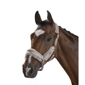 Eskadron Headcollar Double Pin Faux Fur Beige