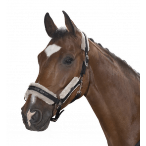 Eskadron Headcollar Double Pin Faux Fur Sort