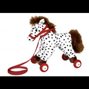 Pony Anton på træruller