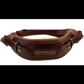 Acavallo Hackamore Læder Nædebånd Havana
