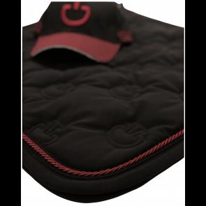 Cavalleria Toscana Quilted CT Logo Jersey Springunderlag Sort