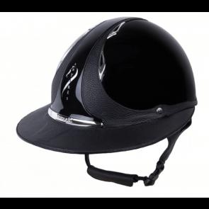 Antares Premium Glossy Ridehjelm Stor Skygge Sort