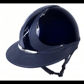 Antares Premium Glossy Ridehjelm Stor Skygge Blå