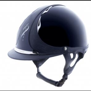Antares Premium Glossy Ridehjelm Blå