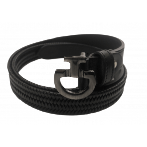 Cavalleria Toscana Elastic Leather Belt Sort