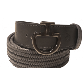 Cavalleria Toscana Elastic Leather Belt Unisex Grå