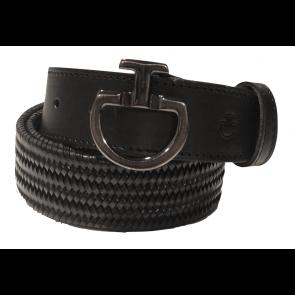 Cavalleria Toscana Elastic Leather Belt Unisex Sort