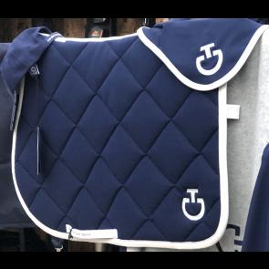 Cavalleria Toscana Jersey Quiltet Rhombi Dressur underlag Kongeblå