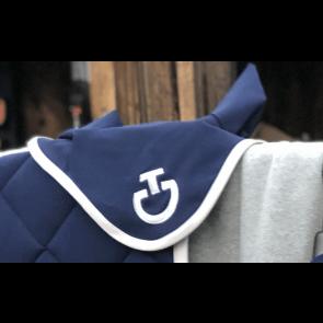 Cavalleria Toscana Jersey Stripe Soundless Earnet Kongeblå/Grå
