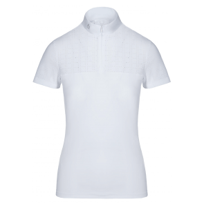 Cavalleria Toscana Square Perforated Zip Comp. Polo Hvid