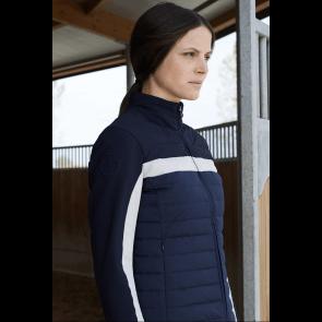 Cavalleria Toscana Nylon/Jersey Syntetic Down Quiltet Jacket Navy/Grå