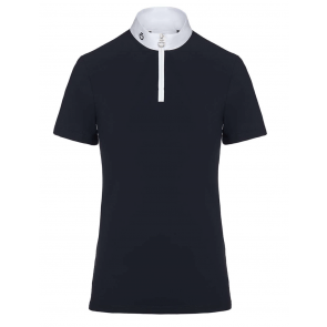 Cavalleria Toscana Jersey+Knit Competition S/S Polo Navy