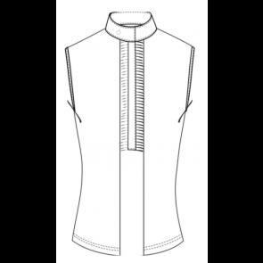 Cavalleria Toscana Pleated Jersey Sleveless Shirt Hvid
