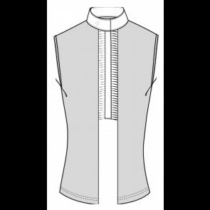 Cavalleria Toscana Pleated Jersey Sleveless Shirt Lys Grå
