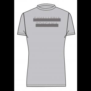 Cavalleria Toscana Peekaboo CT Crew Neck T-shirt Grå