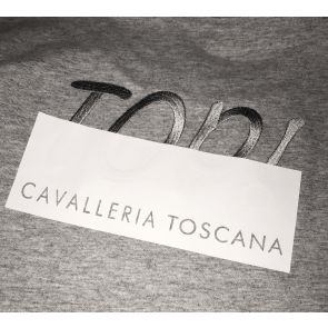 Cavalleria Toscana Peekaboo Top Girl Crew Neck T-shirt Grå JR