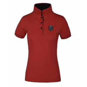 Kingsland Agape Ladies Tec Pique Polo Shirt Red