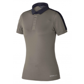Kingsland Flo Ladies Training Polo Shirt Beige Oyster Grey