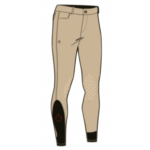 Cavalleria Toscana Men's New Grip System Breeches Beige