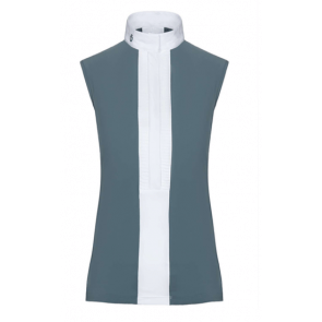 Cavalleria Toscana Pleated Jersey Sleeveless Shirt Støvgrøn