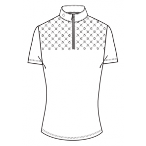 Cavalleria Toscana Laser Perforated Comp. Zip Polo Hvid