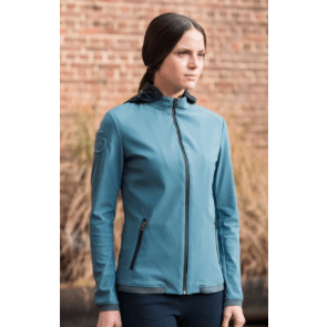 Cavalleria Toscana Women's Softshell Warm-Up Jacket Støvgrøn