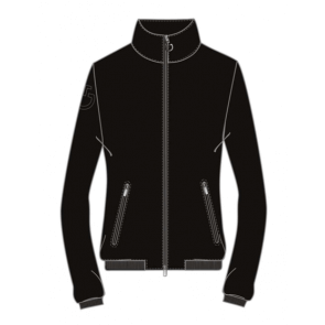 Cavalleria Toscana Women's Softshell Warm-Up Jacket Black