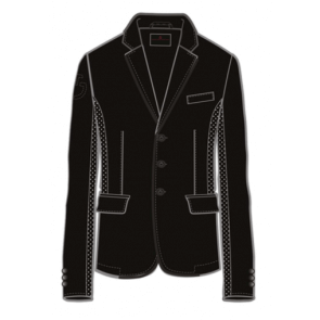 Cavalleria Toscana Men's GP Perforated Riding Jacket Black