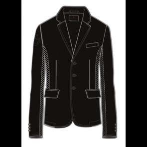 Cavalleria Toscana Men's GP Perforated Riding Jacket Black
