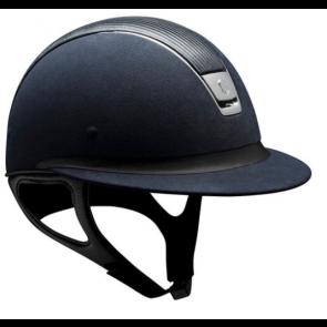 Samshield Blue Alcantara/ Leather Top/ Chrome