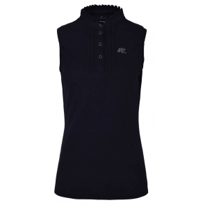 Kingsland Vanda Ladies SL Cotton Pique Shirt Navy