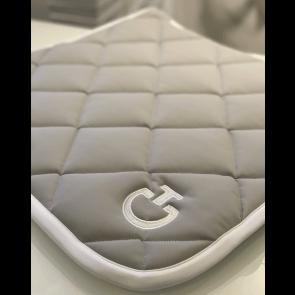 Cavalleria Toscana Jersey Quiltet Rhombi Dressurunderlag Lys Grå/hvid