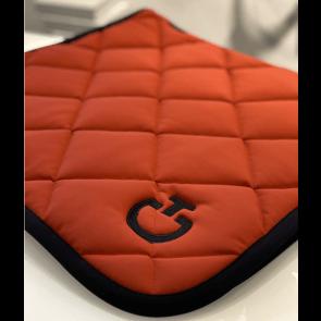 Cavalleria Toscana Jersey Quiltet Rhombi Dressur underlag Brændt orange/sort