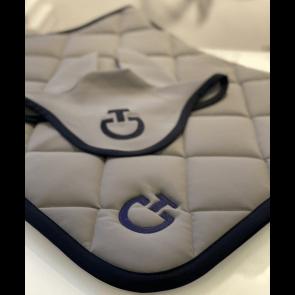 Cavalleria Toscana Jersey Quiltet Rhombi Springunderlag Grå/navy