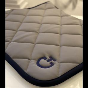 Cavalleria Toscana Jersey Quiltet Rhombi Dressur underlag Grå/navy
