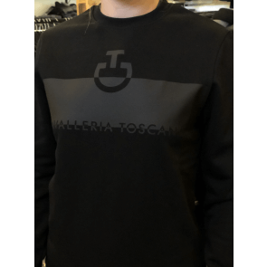 Cavalleria Toscana Adhesive Logo Sweatshirt Sort