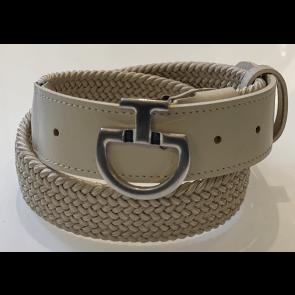 Cavalleria Toscana Women's Elastic Belt CT Clasp Beige