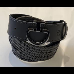 Cavalleria Toscana Elastic Leather Belt Unisex Grå