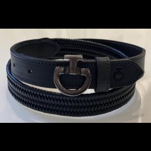 Cavalleria Toscana Elastic Leather Belt Navy