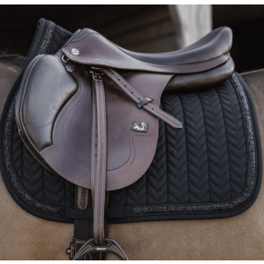 Kentucky Glitter Stone Show Jumping Saddle Pad Black