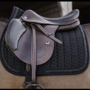 Kentucky Glitter Stone Show Jumping Saddle Pad Black