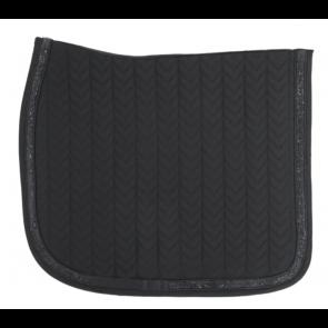 Kentucky Glitter Stone Show Dressage Saddle Pad Black