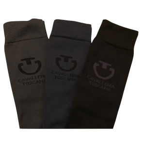 Cavalleria Toscana Light Full Logo Socks 3 Pak Mix Colours