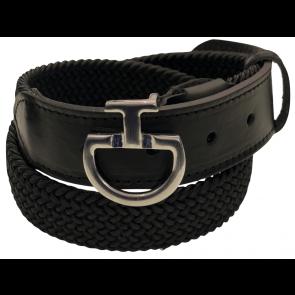 Cavalleria Toscana Women's Elastic Belt CT Clasp Mørkegrå/sort